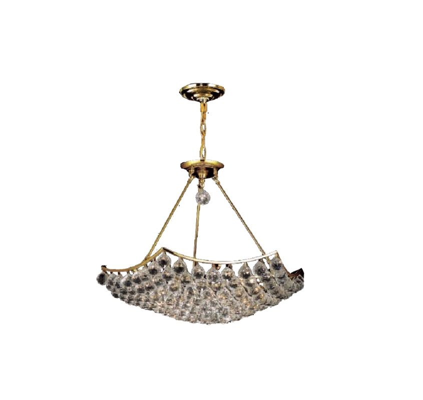 Elegant Lighting 9802D26G Corona 12-Light Crystal Pendant Finished in