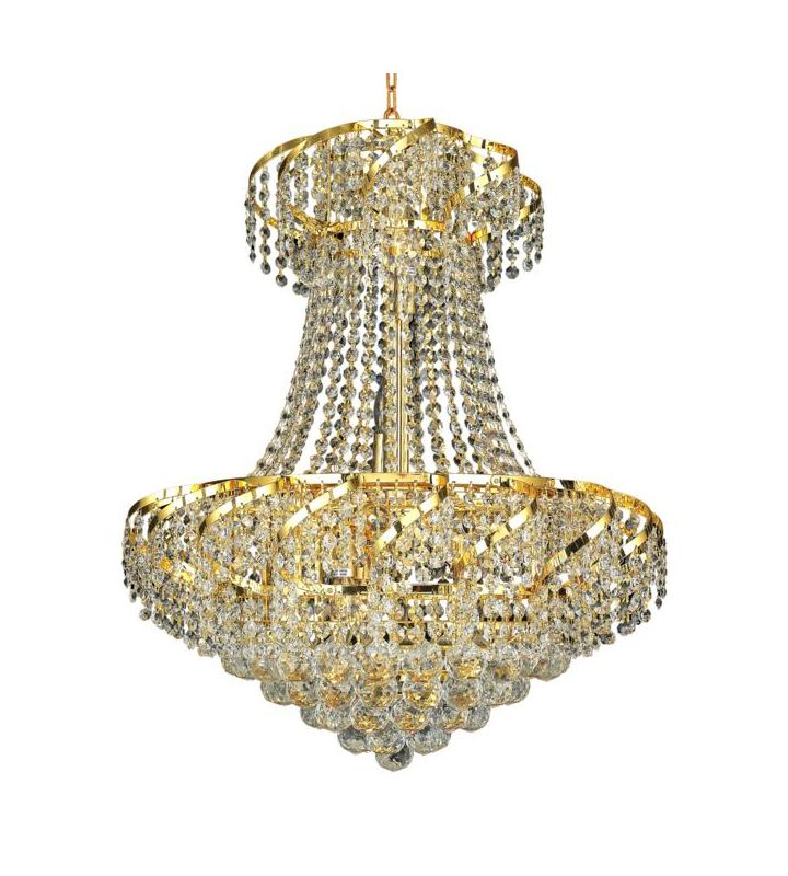 Elegant Lighting ECA1D22G Belenus 11-Light 2-Tier Crystal Chandelier