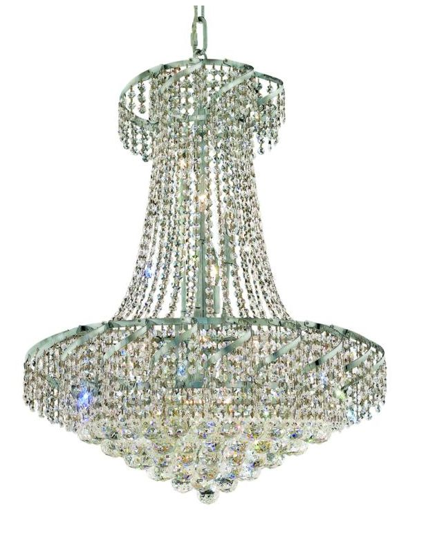 Elegant Lighting ECA1D26C Belenus 15-Light 2-Tier Crystal Chandelier