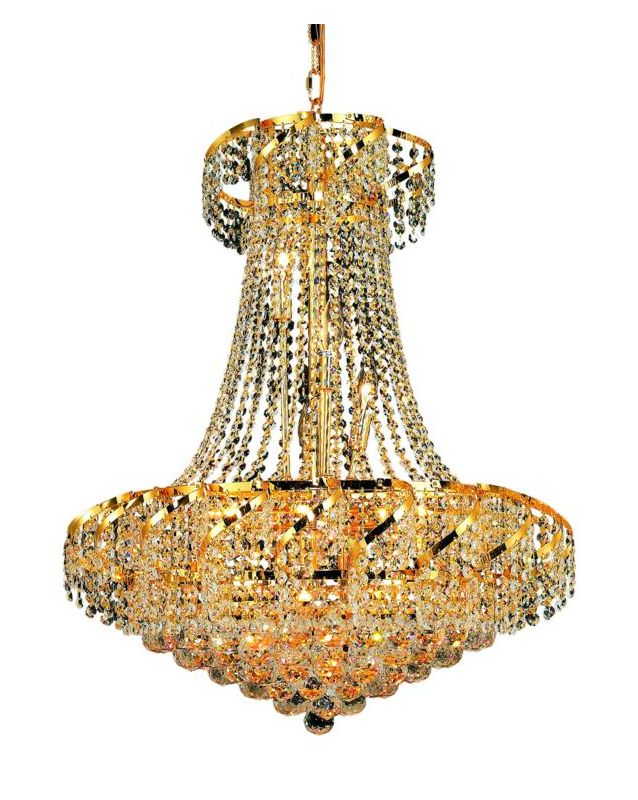 Elegant Lighting ECA1D26G Belenus 15-Light 2-Tier Crystal Chandelier