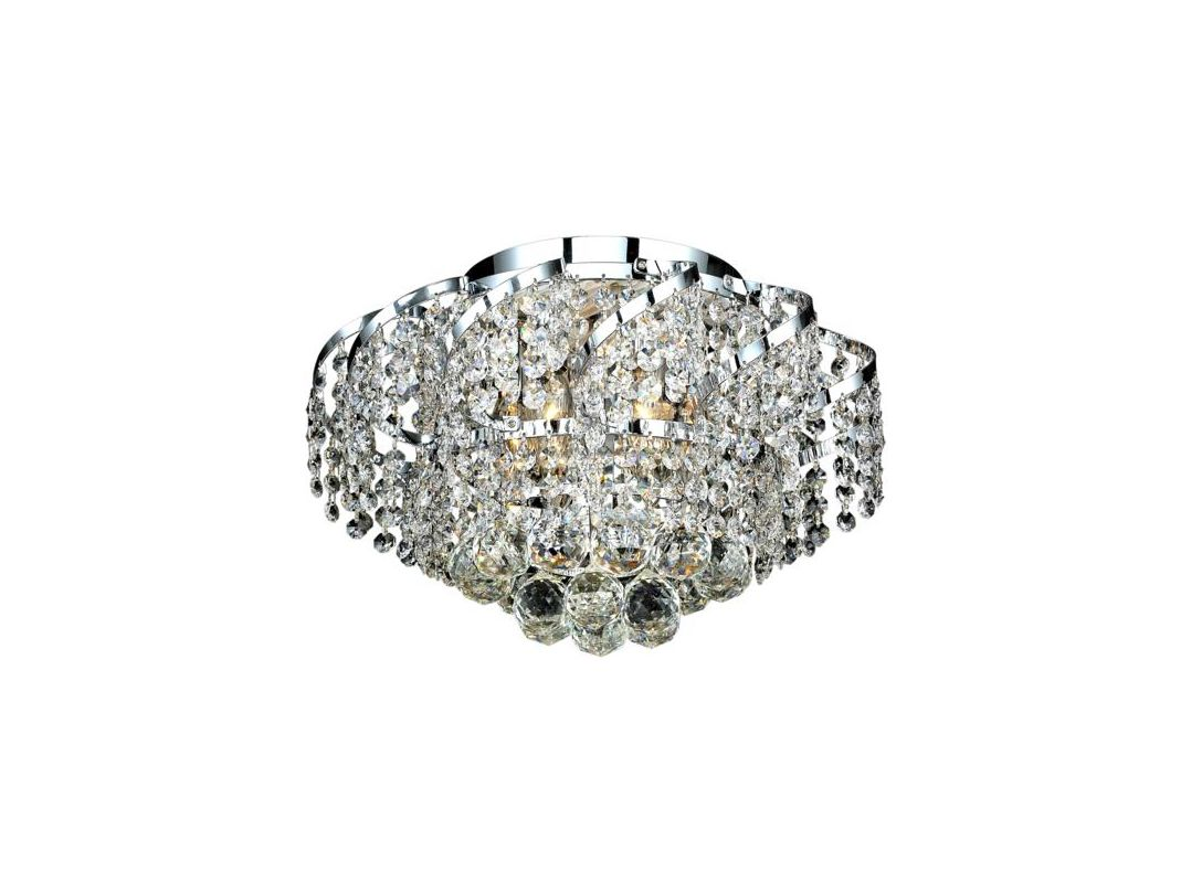 Elegant Lighting ECA1F16C Belenus 6-Light Single-Tier Flush Mount