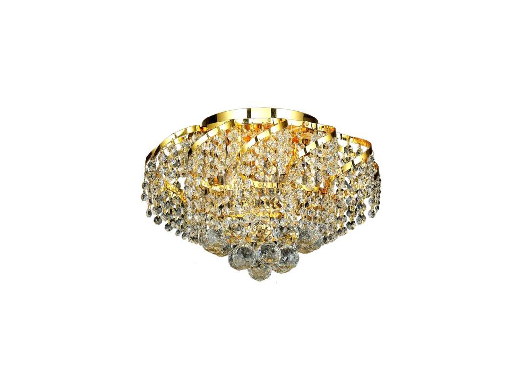 Elegant Lighting ECA1F16G Belenus 6-Light Single-Tier Flush Mount
