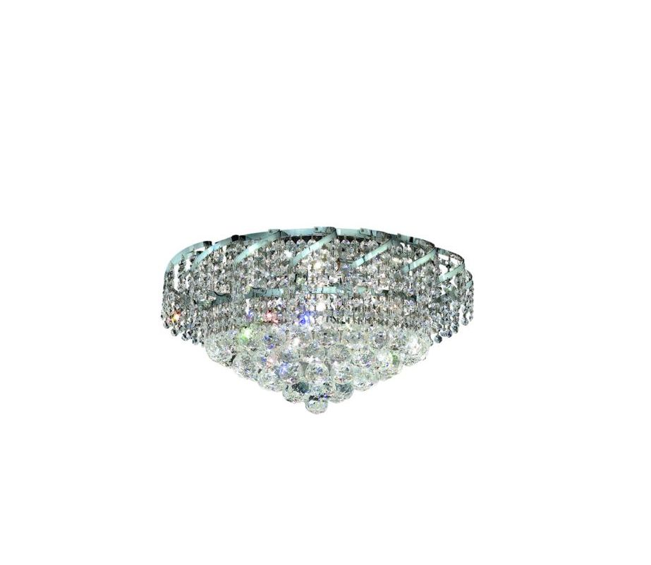Elegant Lighting ECA1F20C Belenus 8-Light Single-Tier Flush Mount