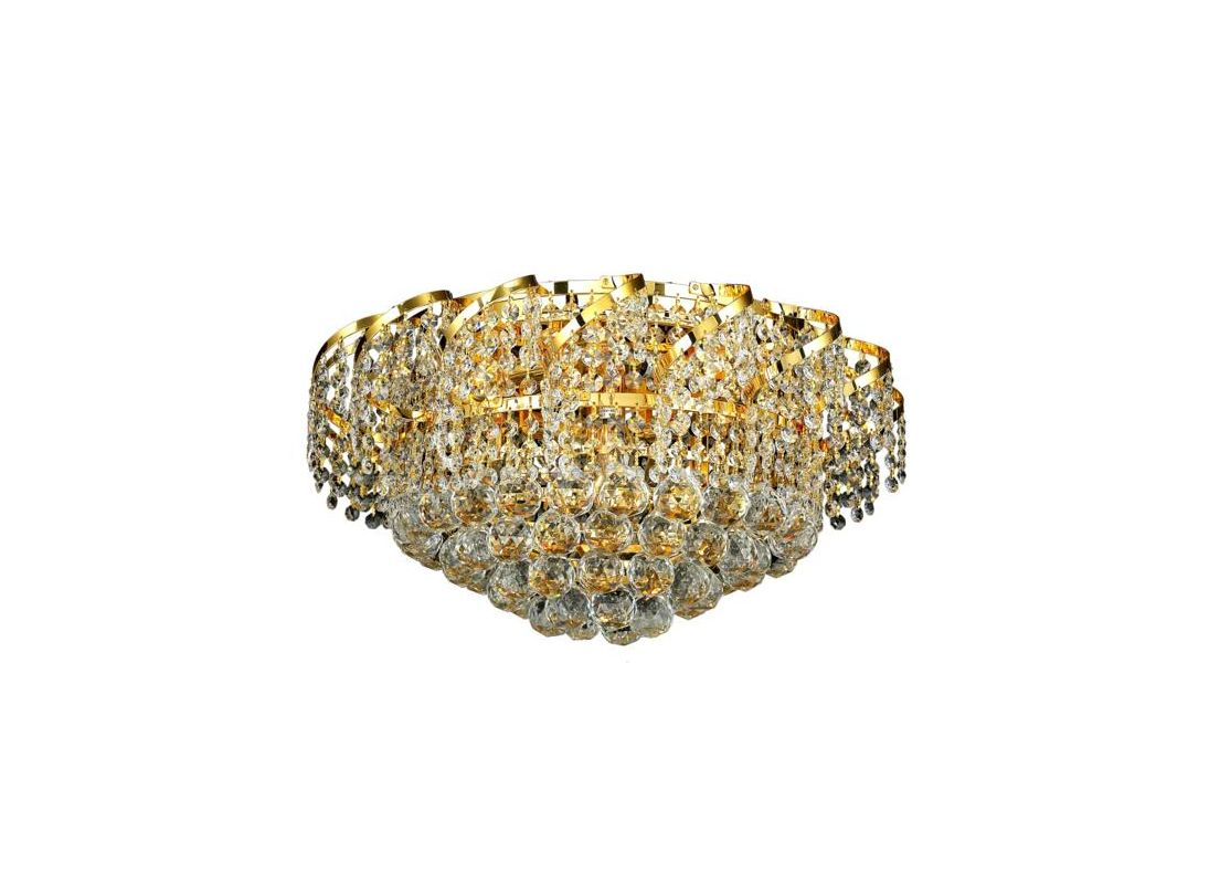 Elegant Lighting ECA1F20G Belenus 8-Light Single-Tier Flush Mount