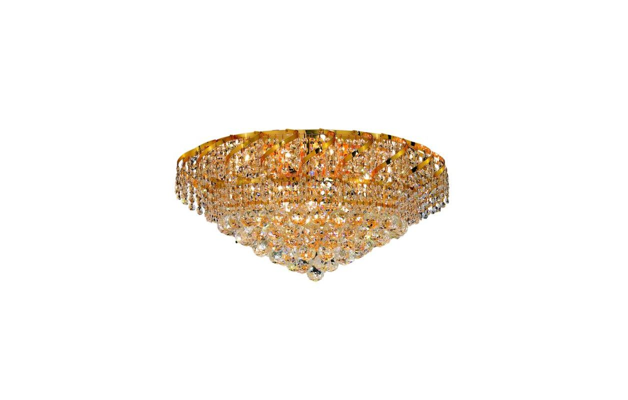 Elegant Lighting ECA1F26G Belenus 10-Light Single-Tier Flush Mount