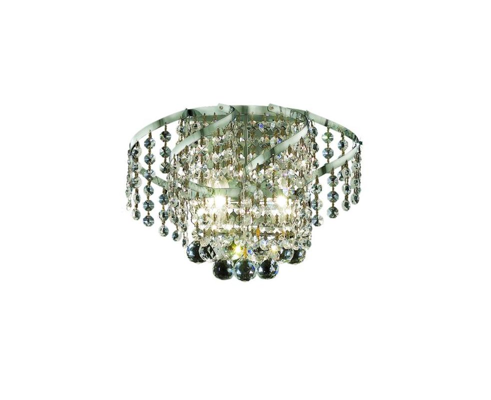 Elegant Lighting ECA1W12C Belenus 2-Light Crystal Wall Sconce