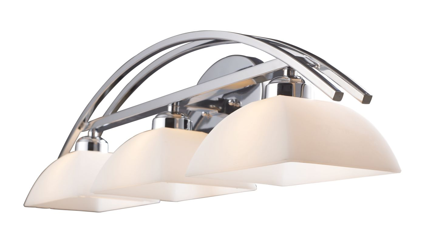"""Elk Lighting 10032/3 Arches 3 Light 30"""" Vanity Fixture with Frosted"""