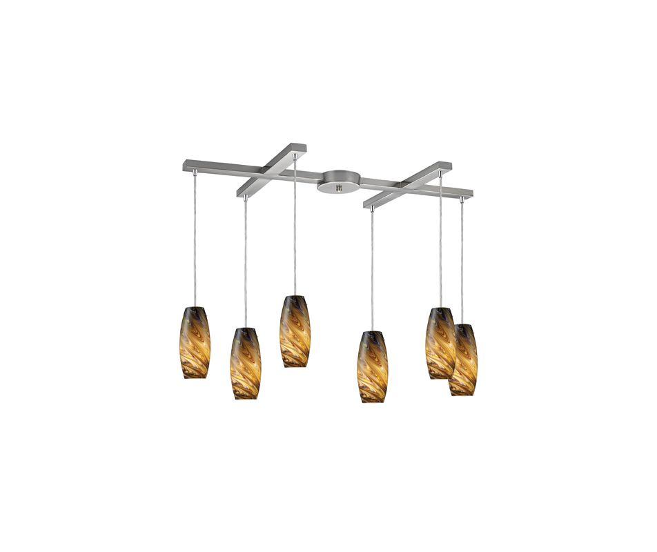Elk Lighting 10079/6 Vortex 6 Light Pendant Satin Nickel / Celestial Sale $1192.00 ITEM: bci964114 ID#:10079/6CV UPC: 748119014685 :