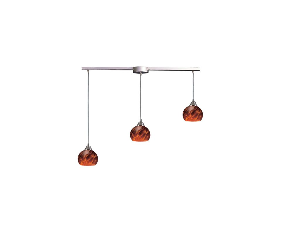 "Elk Lighting 101-3L Mela 3 Light 36"" Wide Linear Pendant with"
