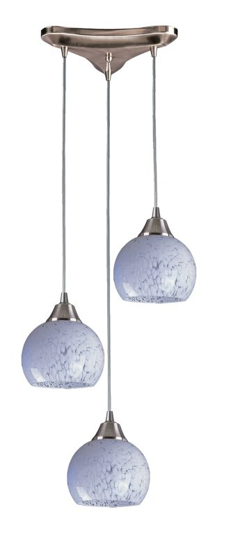 "Elk Lighting 101-3 Mela 3 Light 10"" Wide Linear Pendant with Triangle"