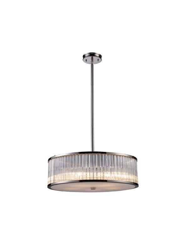 Elk Lighting 10129/5 Polished Nickel Contemporary Braxton Pendant