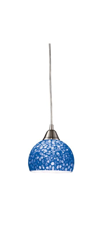 "Elk Lighting 10143/1 Cira Single Light 6"" Wide Mini Pendant with Round"