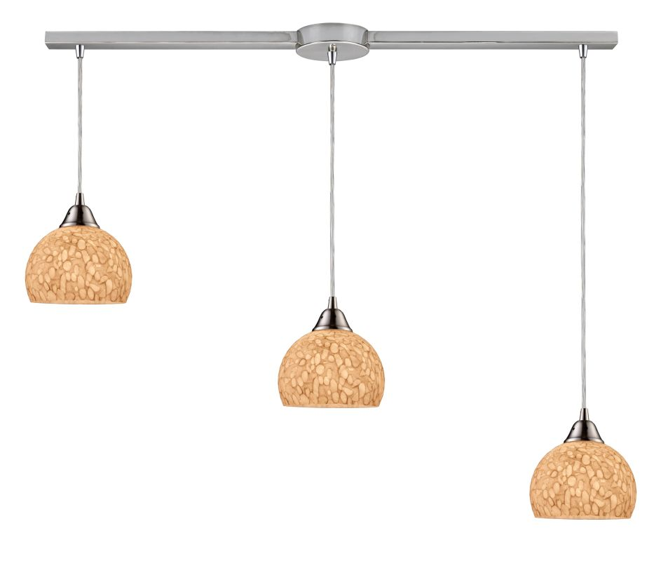 "Elk Lighting 10143/3L Cira 3 Light 36"" Wide Linear Pendant with"