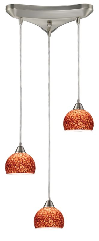 "Elk Lighting 10143/3 Cira 3 Light 10"" Wide Multi Light Pendant with"