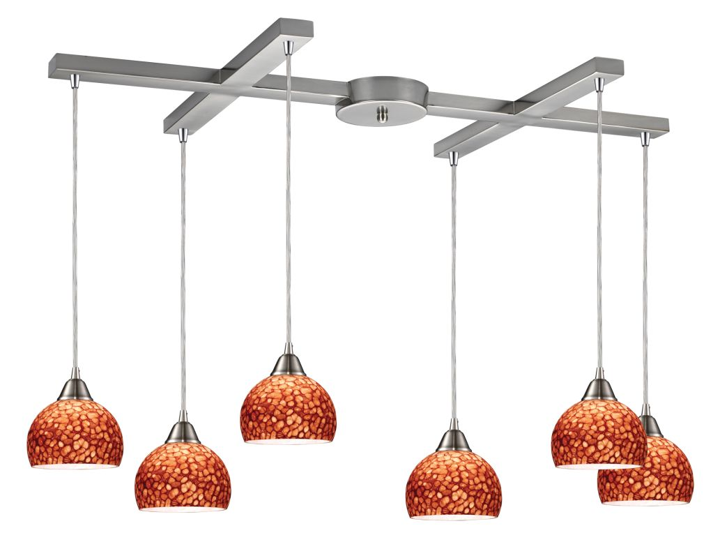 "Elk Lighting 10143/6 Cira 6 Light 33"" Wide Multi Light Pendant with"