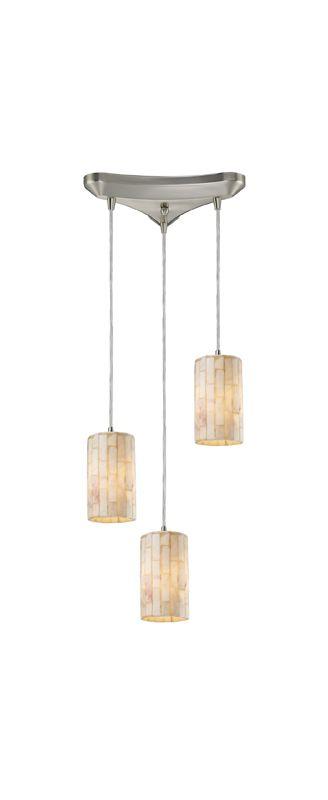 "Elk Lighting 10147/3 Coletta 3 Light 10"" Wide Multi Light Pendant with"