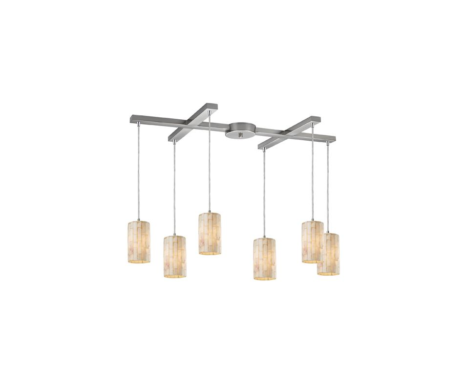 "Elk Lighting 10147/6 Coletta 6 Light 33"" Wide Multi Light Pendant with"