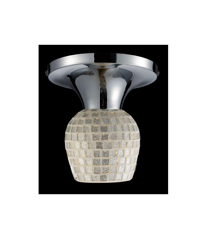 Elk Lighting 10152/1 Single Light Semi-Flush Ceiling Fixture from the Sale $96.00 ITEM: bci1287856 ID#:10152/1PC-SLV UPC: 748119016948 :