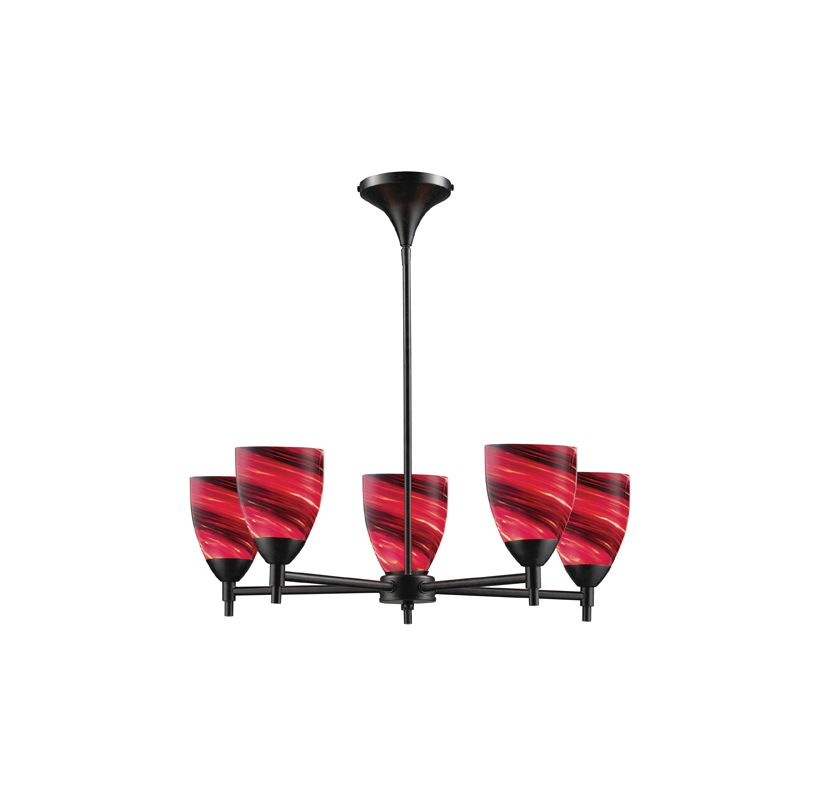 Elk Lighting 10155/5 Five Light Chandelier from the Celina Collection Sale $498.00 ITEM: bci1287325 ID#:10155/5DR-A UPC: 748119018034 :