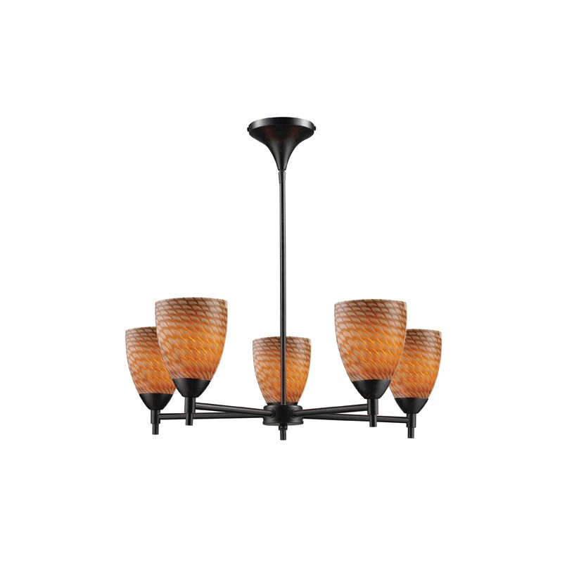 Elk Lighting 10155/5 Five Light Chandelier from the Celina Collection Sale $498.00 ITEM: bci1287327 ID#:10155/5DR-C UPC: 748119017945 :