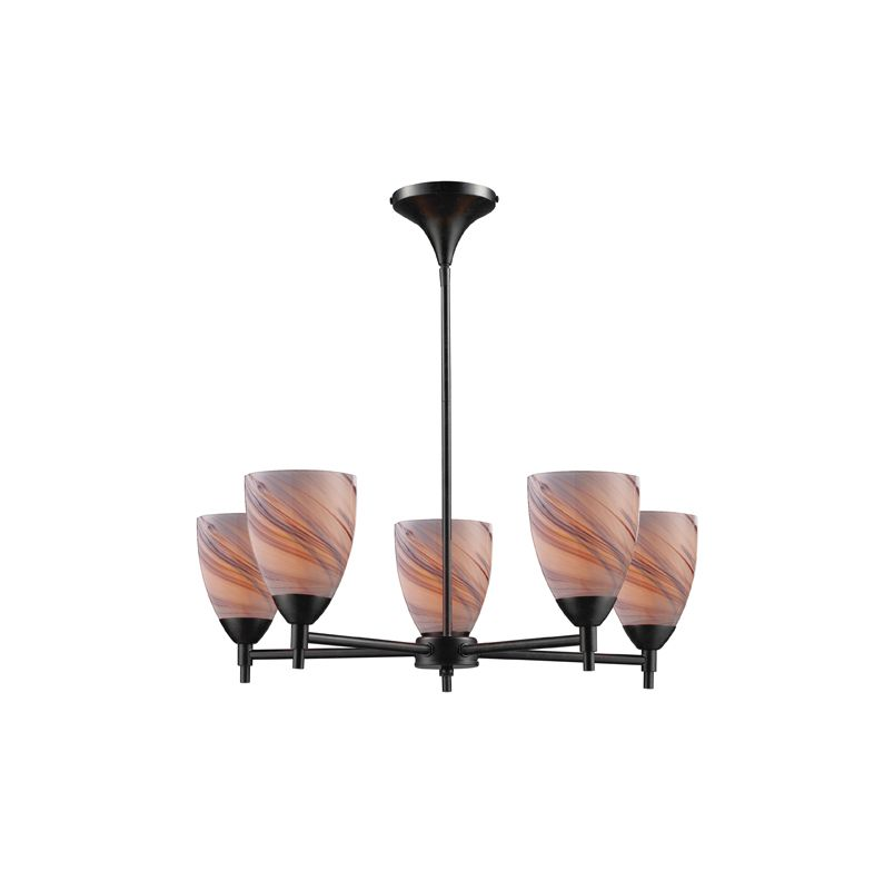 Elk Lighting 10155/5 Five Light Chandelier from the Celina Collection Sale $498.00 ITEM: bci1287330 ID#:10155/5DR-CR UPC: 748119018027 :