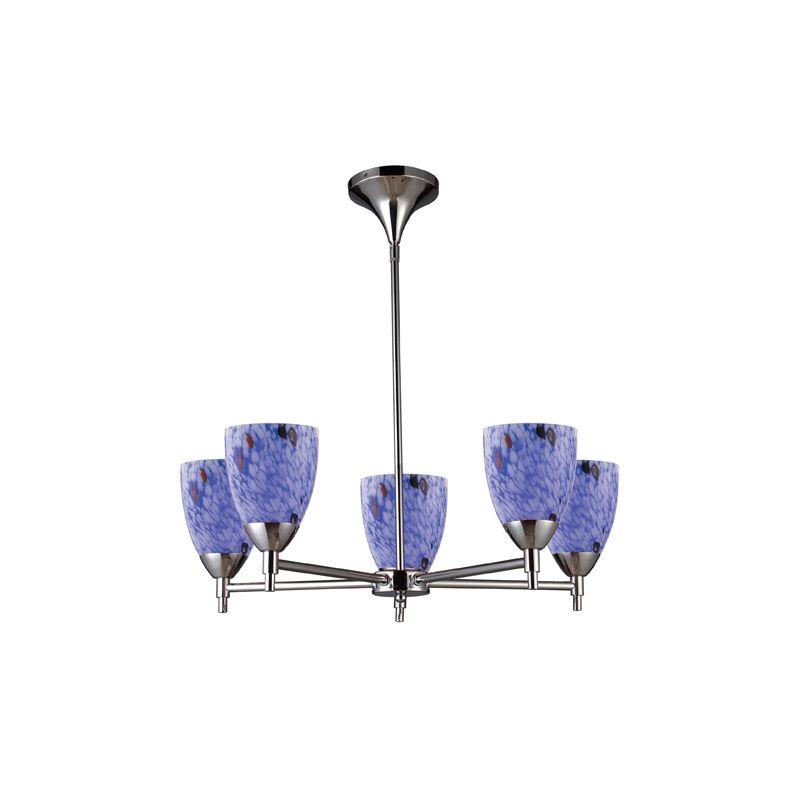 Elk Lighting 10155/5 Five Light Chandelier from the Celina Collection