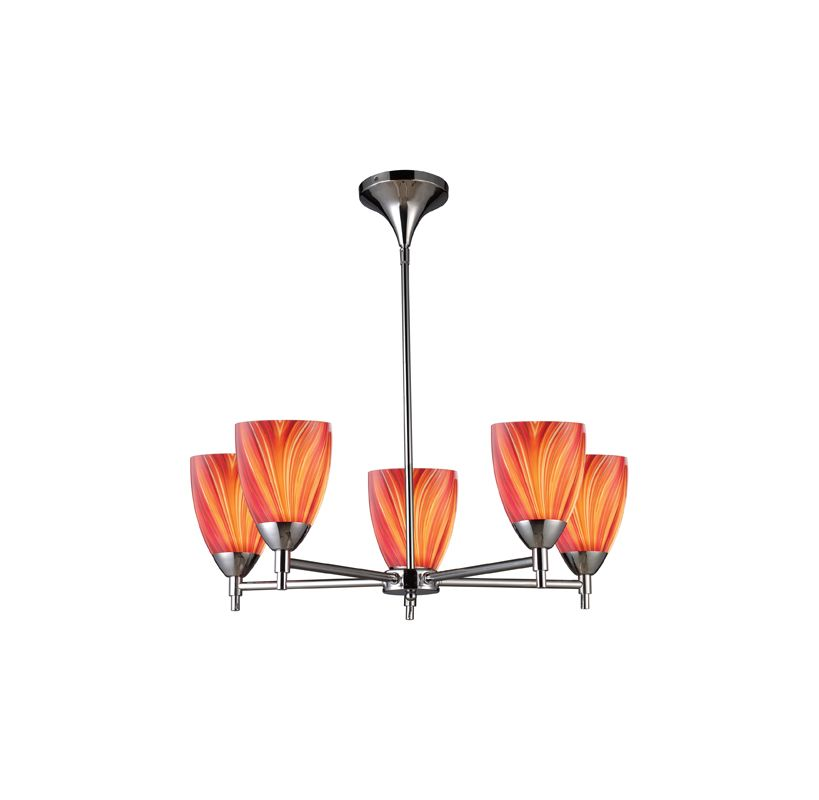 Elk Lighting 10155/5 Five Light Chandelier from the Celina Collection