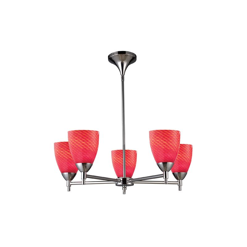 Elk Lighting 10155/5 Five Light Chandelier from the Celina Collection Sale $498.00 ITEM: bci1287363 ID#:10155/5PC-SC UPC: 748119010489 :