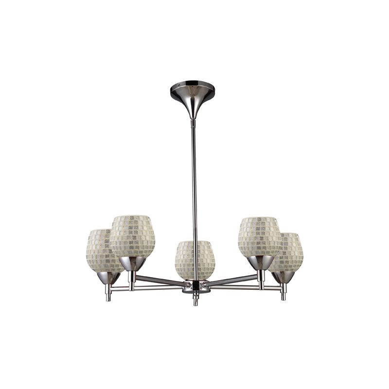 Elk Lighting 10155/5 Five Light Chandelier from the Celina Collection Sale $498.00 ITEM: bci1287364 ID#:10155/5PC-SLV UPC: 748119018188 :