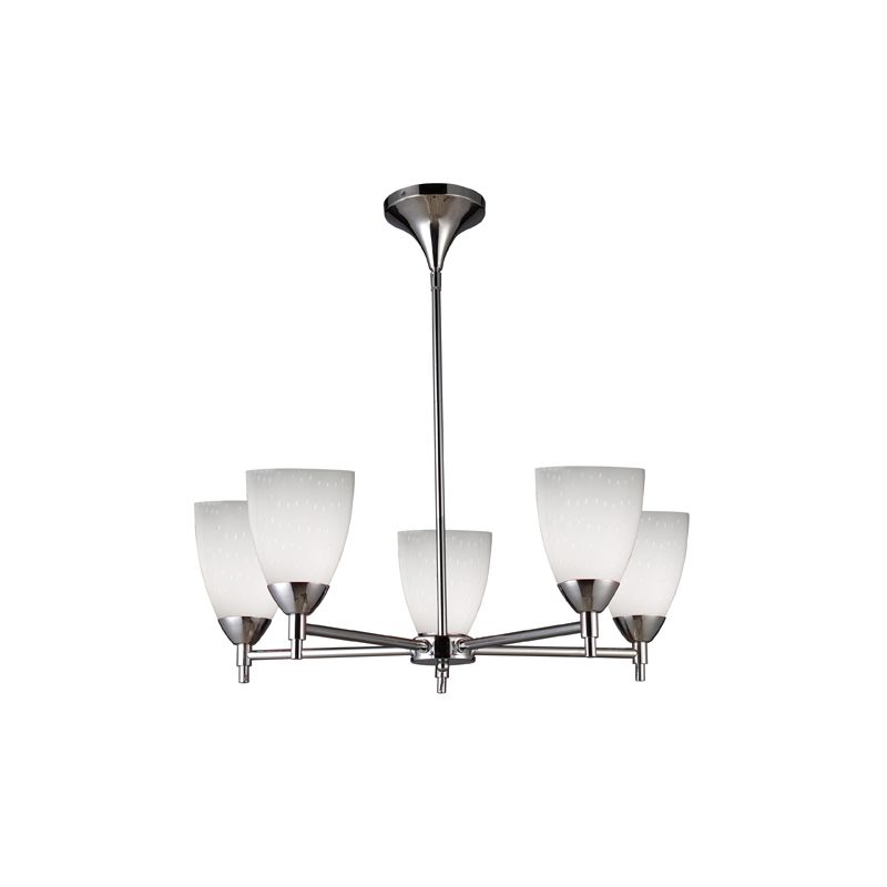 Elk Lighting 10155/5 Five Light Chandelier from the Celina Collection Sale $498.00 ITEM: bci1287367 ID#:10155/5PC-WH UPC: 748119017877 :