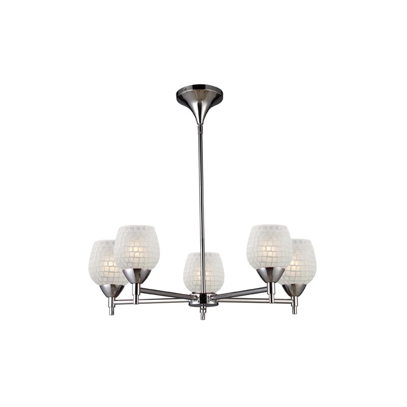 Elk Lighting 10155/5 Five Light Chandelier from the Celina Collection Sale $498.00 ITEM: bci1287368 ID#:10155/5PC-WHT UPC: 748119018164 :