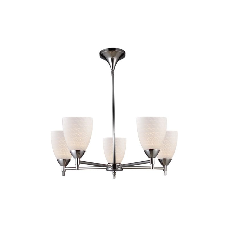 Elk Lighting 10155/5 Five Light Chandelier from the Celina Collection Sale $498.00 ITEM: bci1287369 ID#:10155/5PC-WS UPC: 748119017976 :
