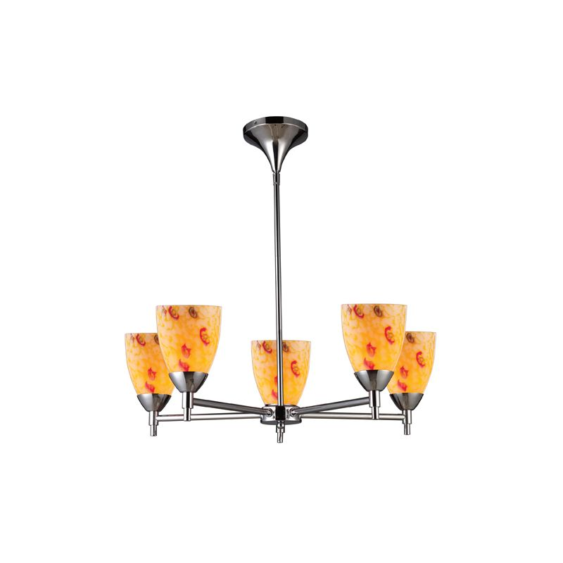 Elk Lighting 10155/5 Five Light Chandelier from the Celina Collection Sale $498.00 ITEM: bci1287370 ID#:10155/5PC-YW UPC: 748119017846 :