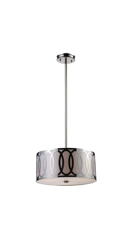 "Elk Lighting 10173/3 Anastasia 3 Light 18"" Wide Pendant with Round"