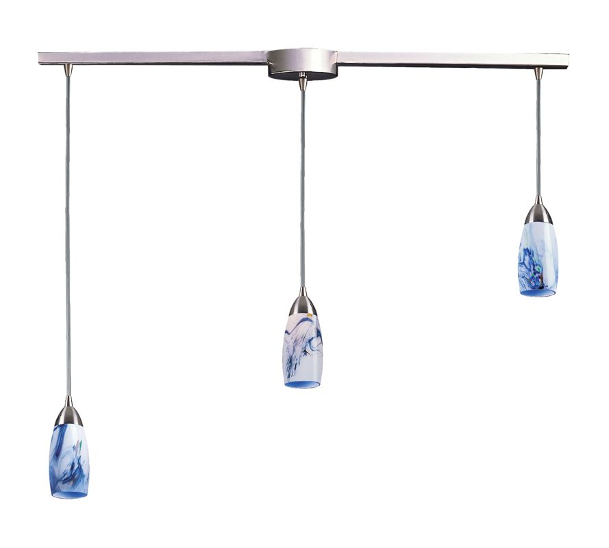"Elk Lighting 110-3L Milan 3 Light 36"" Wide Linear Pendant with"