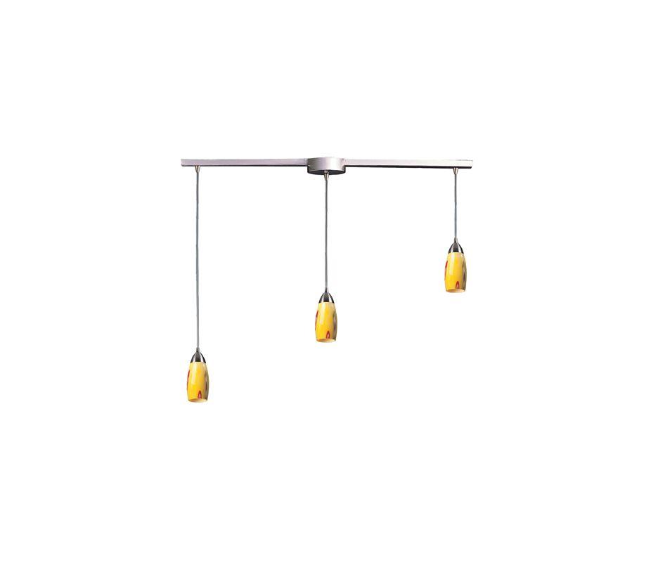 "Elk Lighting 110-3L Milan 3 Light 36"" Wide Linear Pendant with"