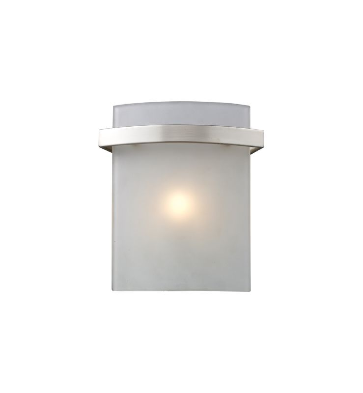 Elk Lighting 11280/1 Satin Nickel Contemporary Briston Bathroom Light