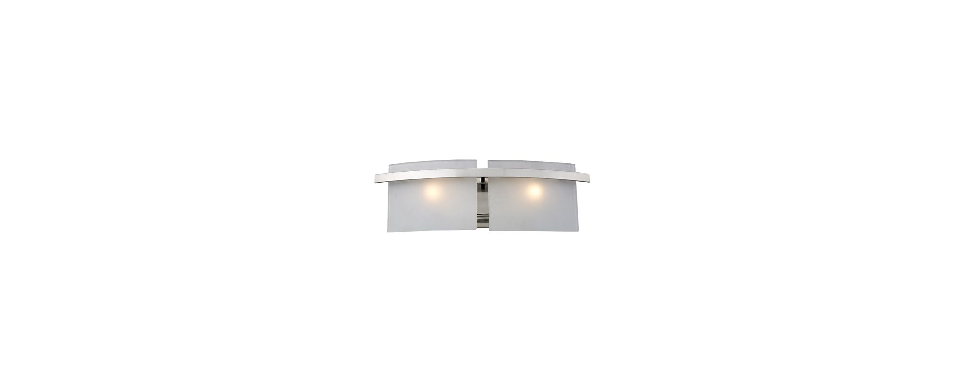 Elk Lighting 11281/2 Satin Nickel Contemporary Briston Bathroom Light
