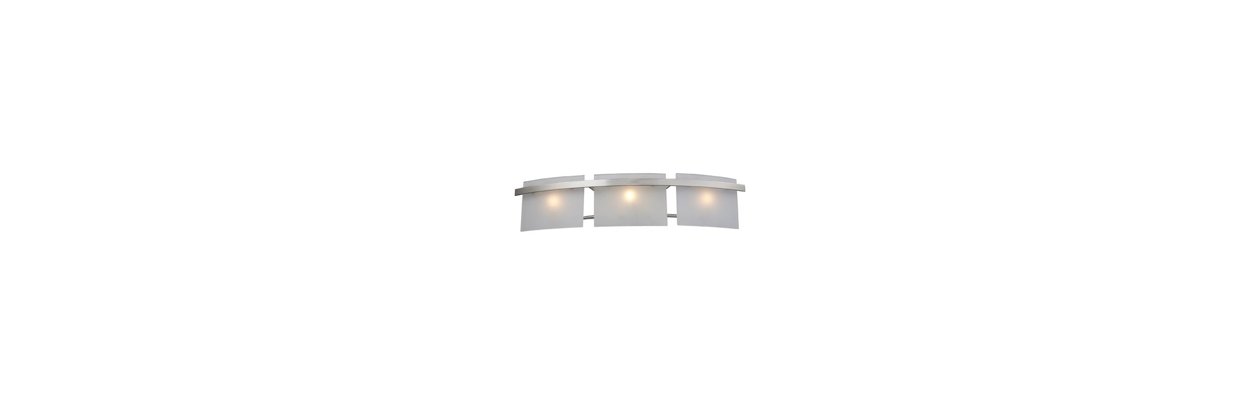 Elk Lighting 11282/3 Satin Nickel Contemporary Briston Bathroom Light