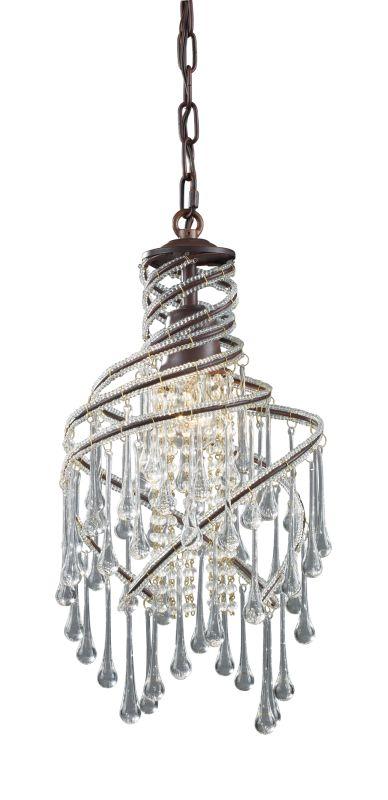 """Elk Lighting 12002/1 Elise Single Light 10"""" Wide Crystal Mini Pendant"""