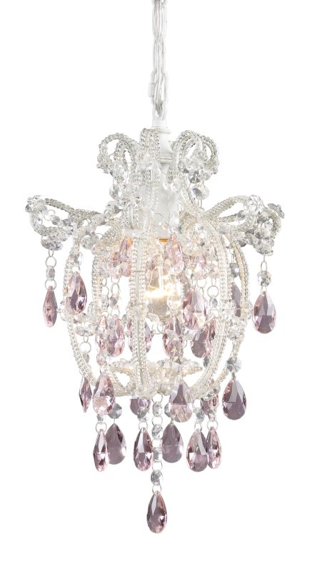 Elk Lighting 12008/1 Elise 1 Light Mini Chandelier Antique White