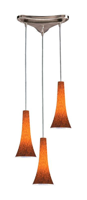 Elk Lighting 140-3 Tromba 3 Light Mini Pendant Espresso Indoor