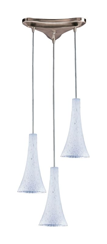 Elk Lighting 140-3 Tromba 3 Light Mini Pendant Snow White Indoor