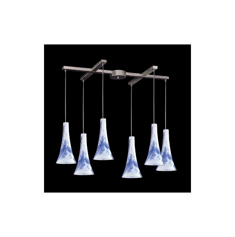 Elk Lighting 140-6 Tromba 6 Light Large Pendant Mountain Indoor
