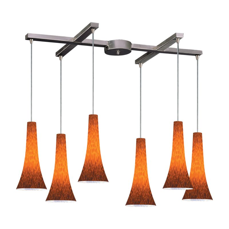 Elk Lighting 140-6 Tromba 6 Light Large Pendant Espresso Indoor