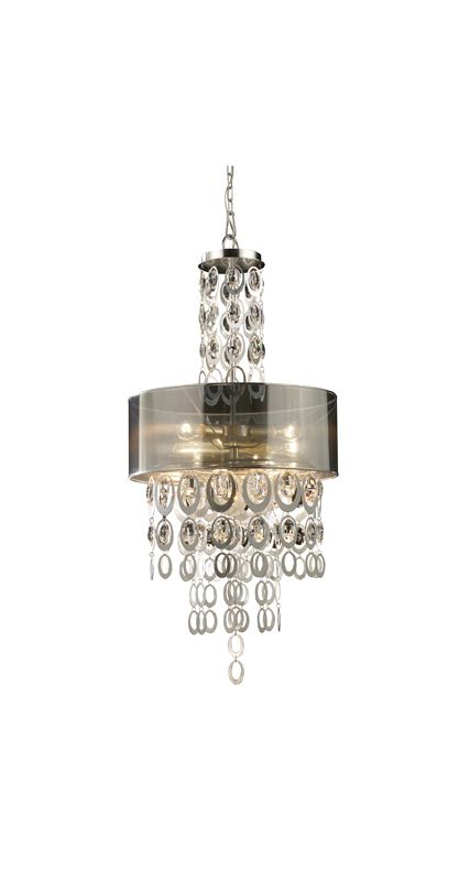 Elk Lighting 14062/3 Silver Leaf Contemporary Parisienne Pendant