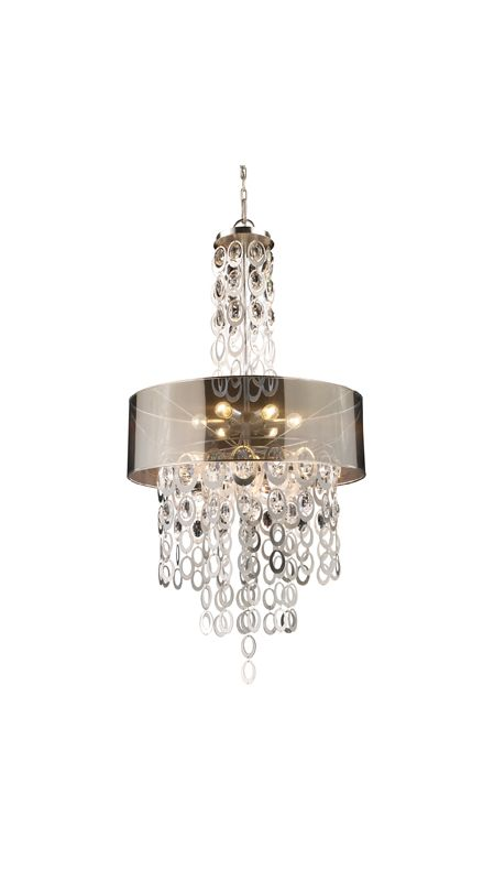 Elk Lighting 14063/6 Silver Leaf Contemporary Parisienne Pendant
