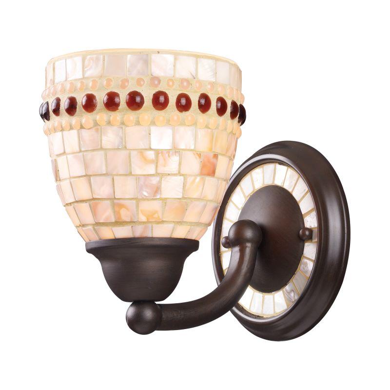 Elk Lighting 15010/1 Roxana 1 Light Wall Sconce Aged Bronze Indoor