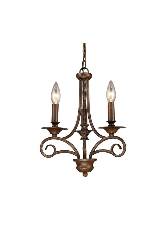 Elk Lighting 15041/3 Three Light Chandelier from the Gloucester