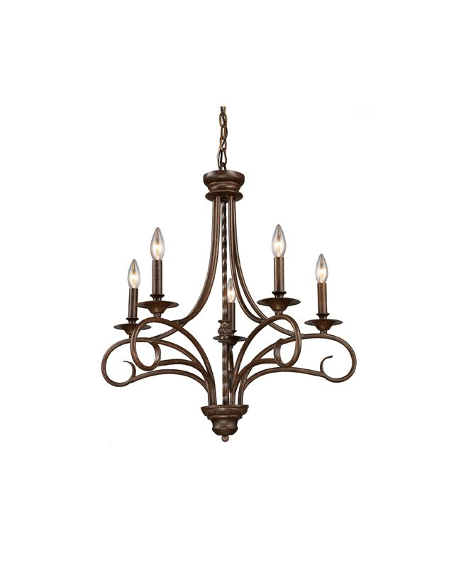 Elk Lighting 15042/5 Five Light Chandelier from the Gloucester